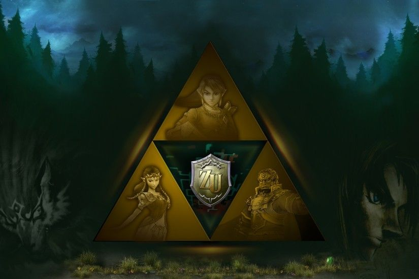 Video Game - The Legend Of Zelda: Twilight Princess Triforce Zelda Link  Ganondorf Wolf Link