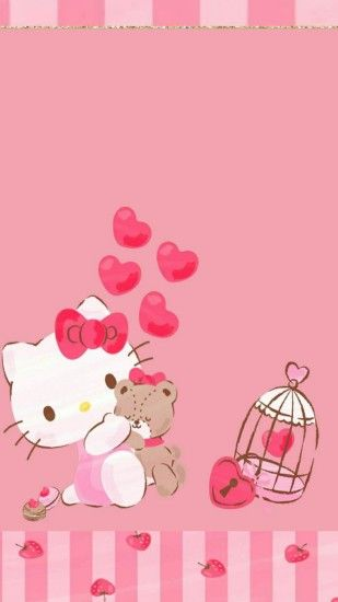 iPhone Wall: Valentine's Day tjn Hello Kitty Wallpaper, Sanrio Wallpaper, Hello  Kitty My ...