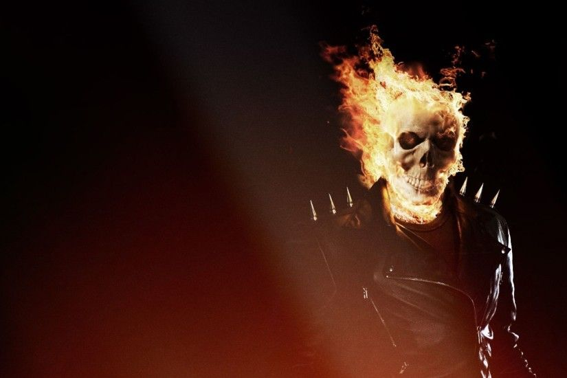 Download Wallpaper 1920x1080 Ghost rider, Skull, Fire, Flame Full .