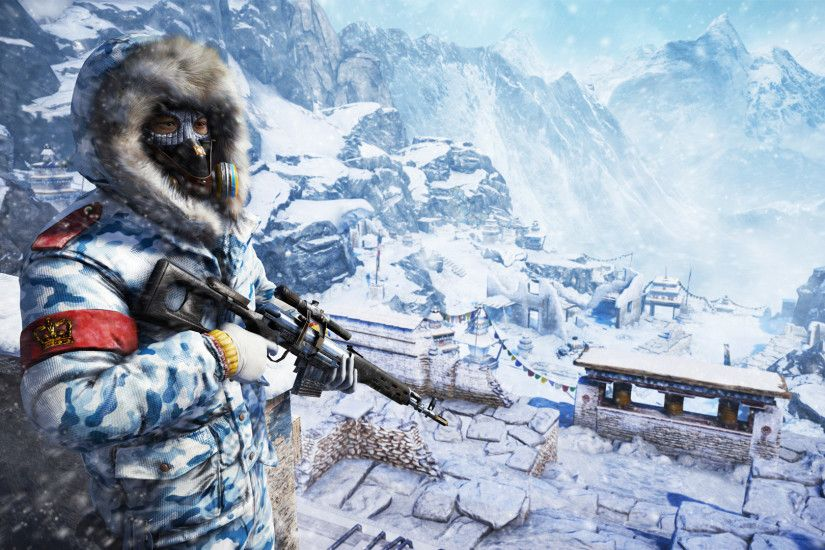 Photos Far Cry Far Cry 4 Soldiers Snow Games 1920x1080