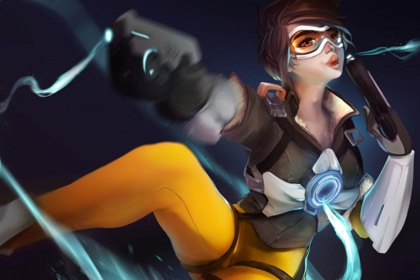 overwatch tracer wallpaper 1920x1357 for retina