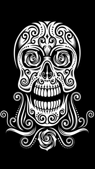 Tribal Skull Wallpaper