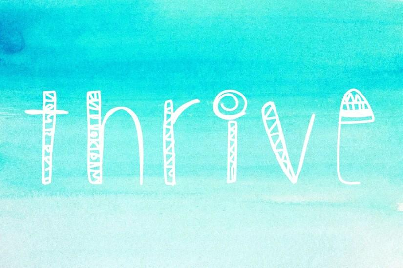 Thrive Quote Wallpaper