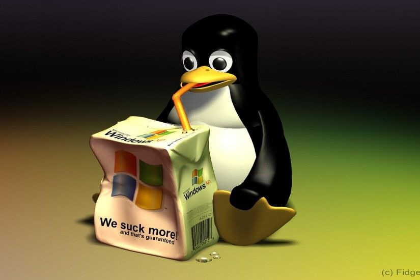 Linux vs Windows Wallpaper