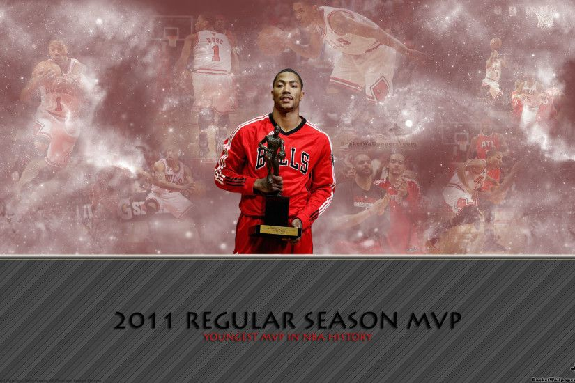Derrick Rose1 MVP Award Widescreen Wallpaper