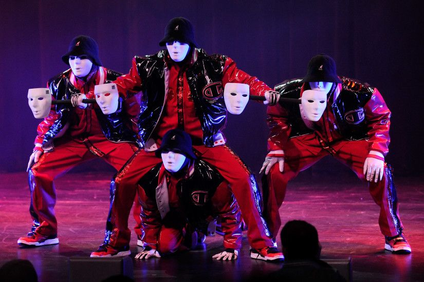 LAS VEGAS - MAY 07: Members of the JabbaWockeez dance crew perform during  the opening