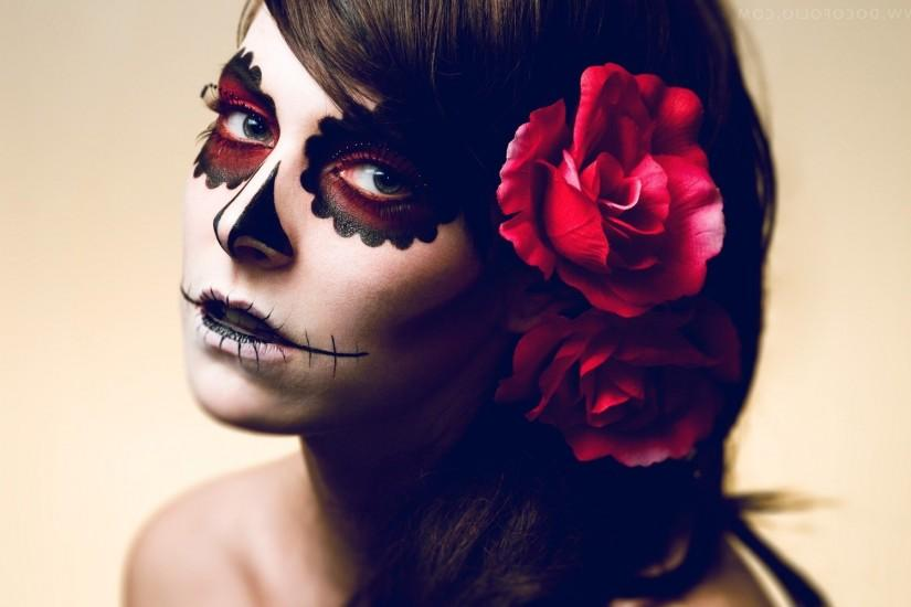 Sugar Skull Makeup Wallpaper 721403