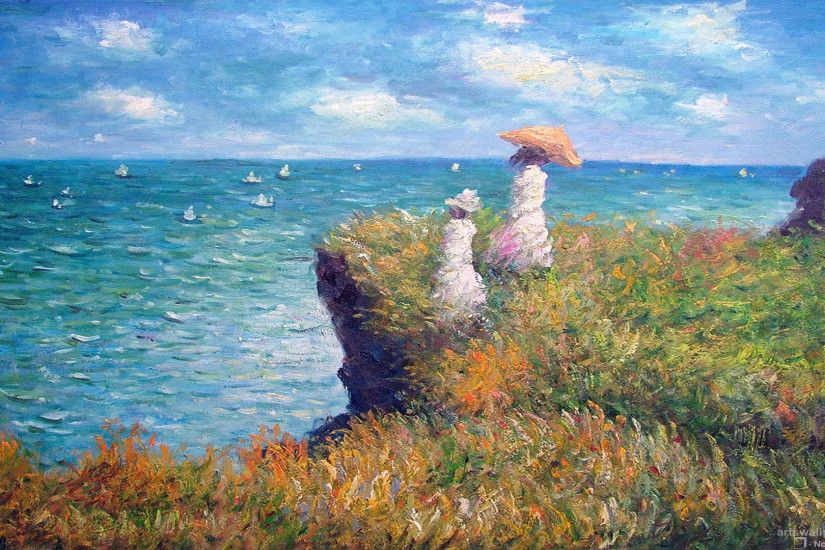 Image from http://img0.gtsstatic.com/wallpapers/f2cb787322f999090065b9b216a9db0e_large.  Monet PaintingsImpressionist PaintingsFamous ...