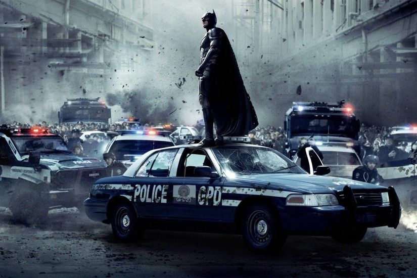 ... wallpaper abyss; batman the dark knight rises cars explosions movies  police cruiser ...