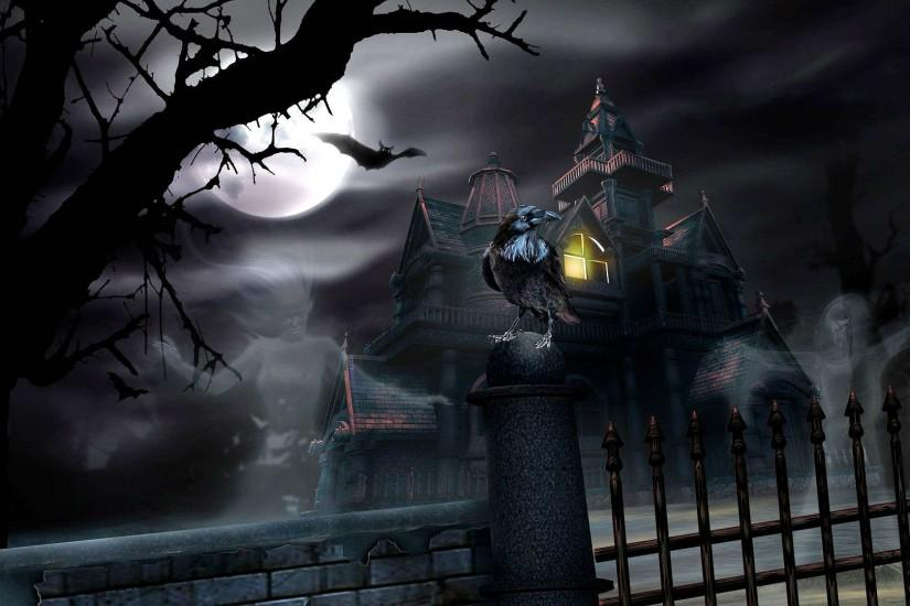 HALLOWEEN dark haunted house spooky wallpaper | 1920x1080 | 497964 |  WallpaperUP