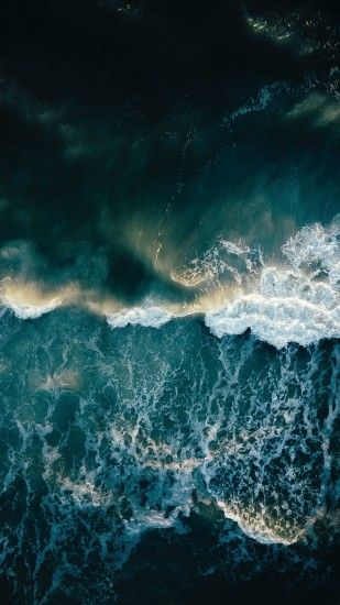 2160x3840 Wallpaper ocean, surf, foam, waves