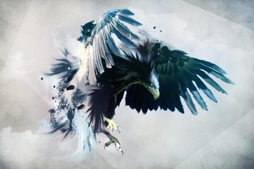 Artwork birds eagles wings birds, eagles, wings) via www. Eagle Art Animal Abstract  Wallpaper ...