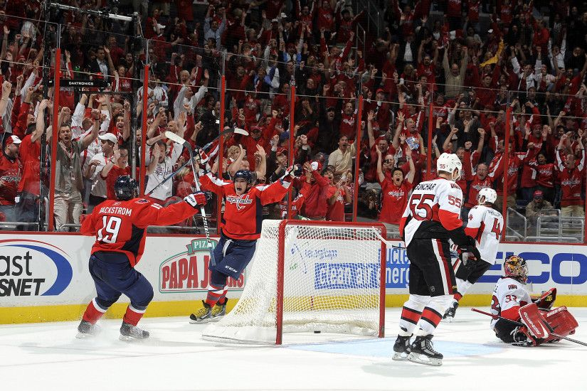 Alex Ovechkin scores the OT Game-Winner Against the Sens. Verizon Center  Erupts in