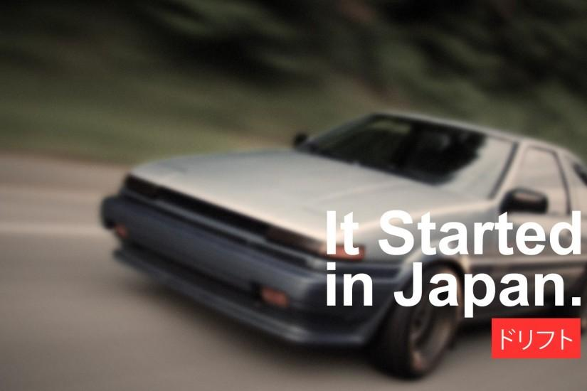 car, Japan, Drift, Drifting, Racing, Vehicle, Japanese Cars, Import,  Tuning, Modified, Toyota, AE86, Toyota AE86, Initial D, It Started In Japan  Wallpaper ...
