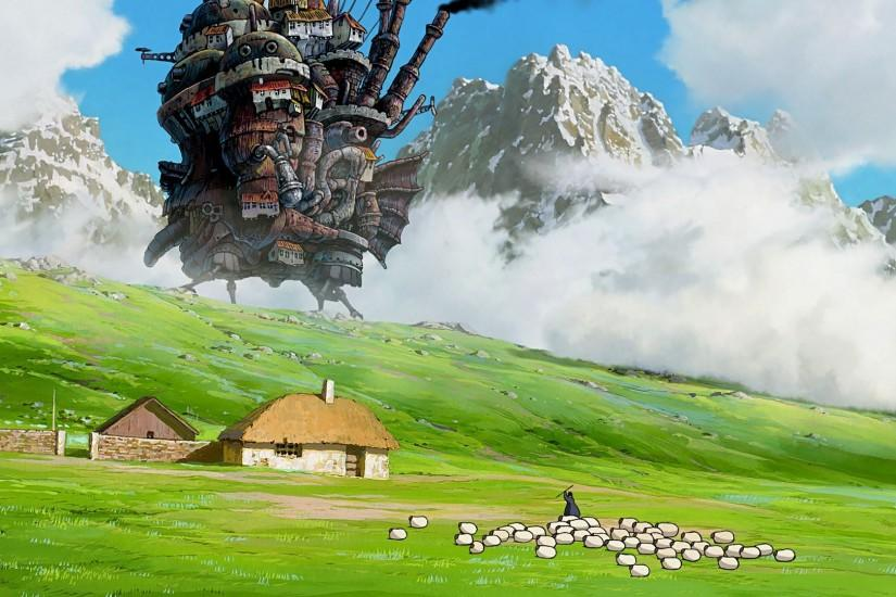 howls moving castle wallpaper 1920x1080 mobile