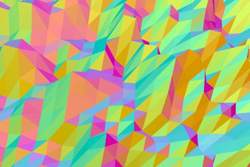 Dancing moving rainbow triangles - HD animated background #75