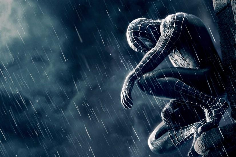 Spiderman in Rain HD Wallpaper