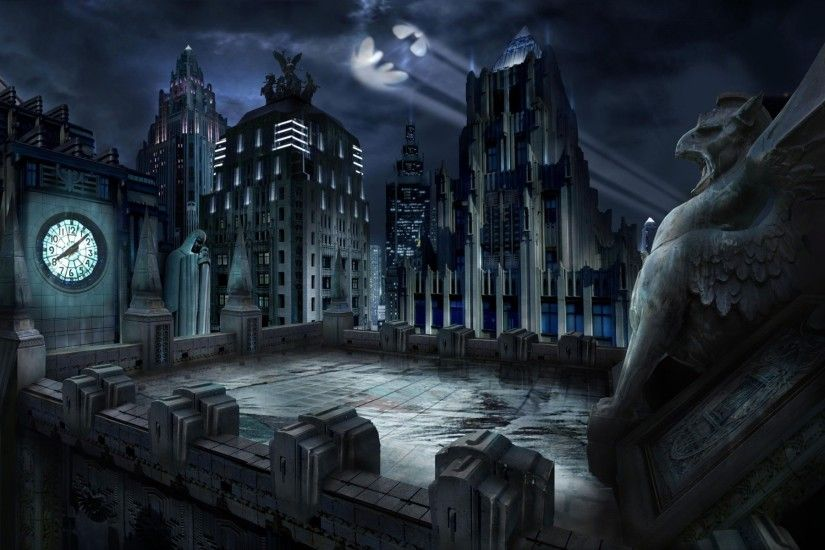 Name : High quality photo of Gotham City, wallpaper of Batman,