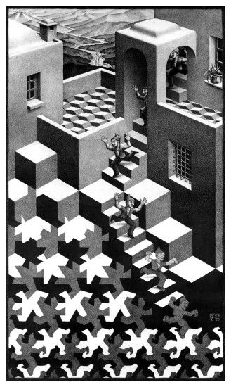 Cycle, lithograph by M.C. Escher, 1938.