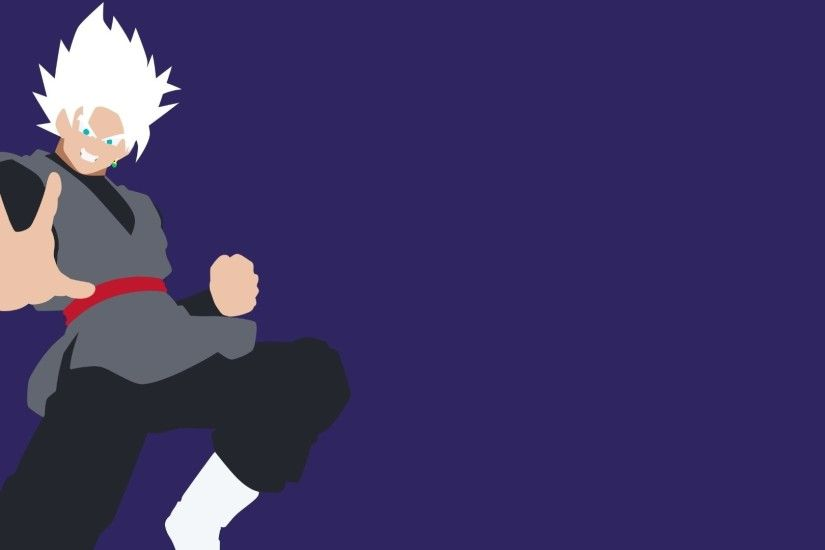 Anime - Dragon Ball Super Goku Black Goku Minimalist Dragon Ball Wallpaper
