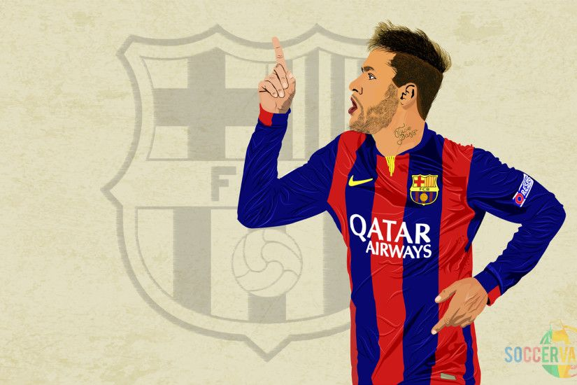 Awesome Neymar Jr (BARCELONA) Wallpaper by soccervaganza.com #football # wallpaper #