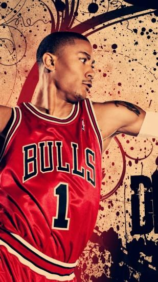 1440x2560 Wallpaper derrick rose, basketball, chicago bulls