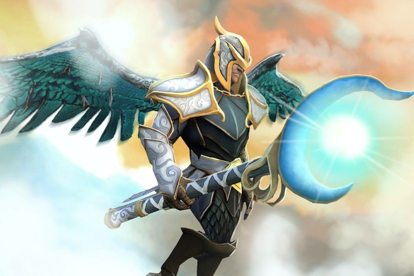 3840x2160 Wallpaper skywrath mage, dota 2, art, rune forged set