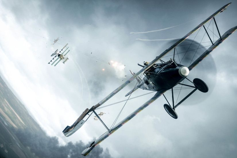 Battlefield 1 Assault Plane VS Fighter Plane 2560x1440 wallpaper