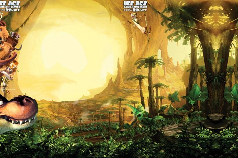 Dino World from Ice Age 3 wallpaper - Click picture for high resolution HD  wallpaper
