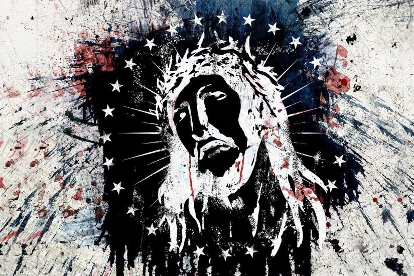 Beautiful Black White Painting Of Lord Jesus Christ