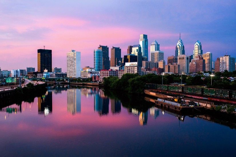 Philadelphia Skyline Wallpaper Photo Art Print Philly Picture Pictures