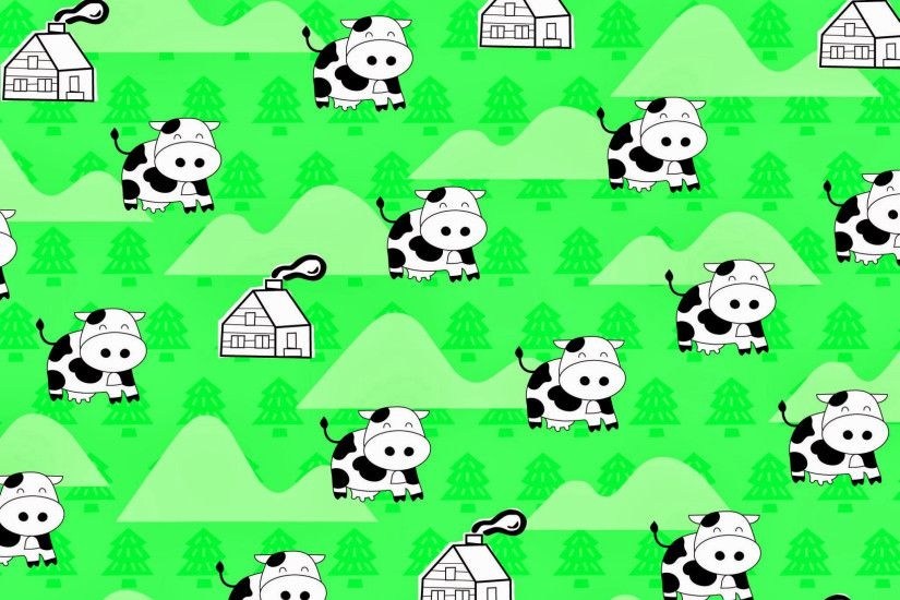2048x2048 Cute cow wallpaper! You can also use it as background!