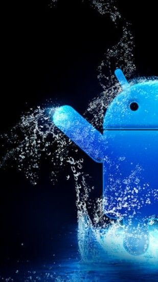 Blue Water Android Logo Android Wallpaper ...