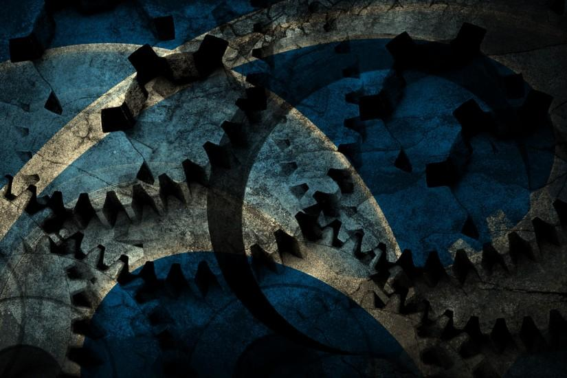 Blue cog grunge backgrounds.