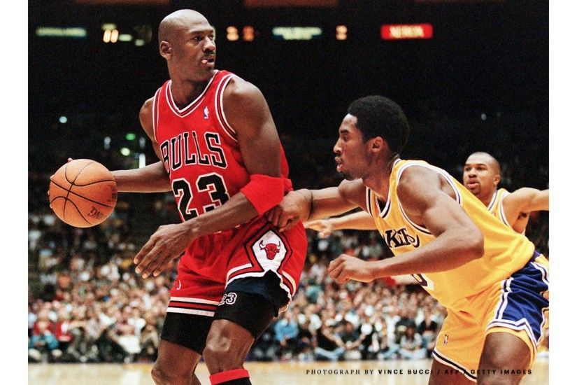 Jordan vs La Lakers Kobe Bryant 4K Wallpaper