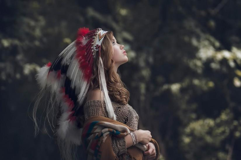 women, Native Americans, Native American Clothing, Headdress Wallpaper HD