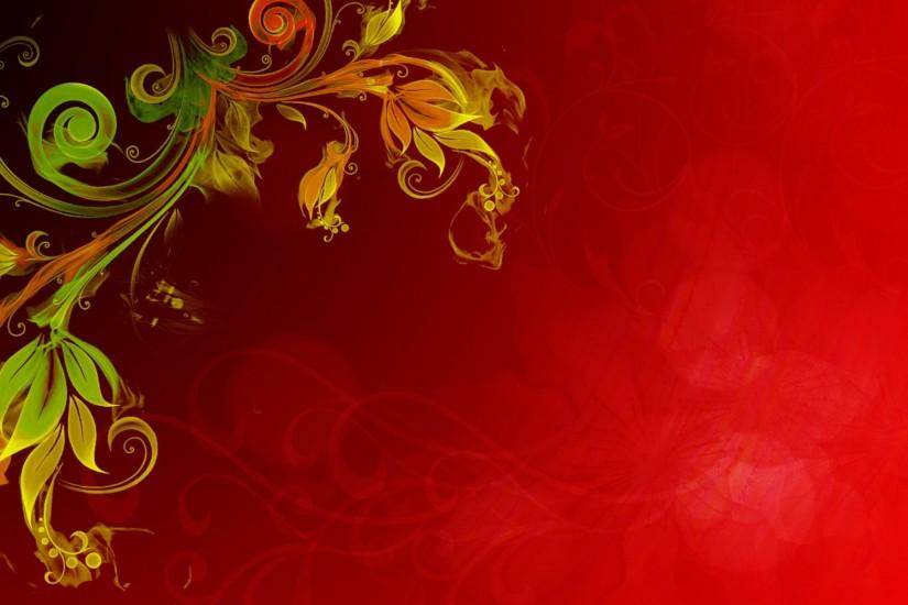Floral Vector Red Background