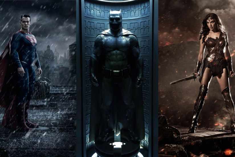Superman vs Batman & Wonder Woman Wallpaper ...