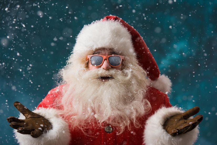 Christmas, Xmas, New Year, Santa Claus, hipster, glasses, beard,