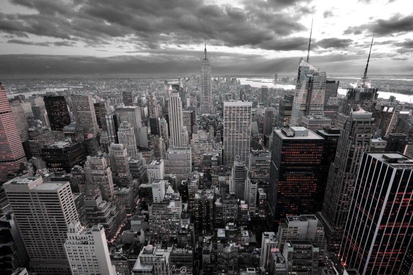 New York City Black and White HD Wallpaper