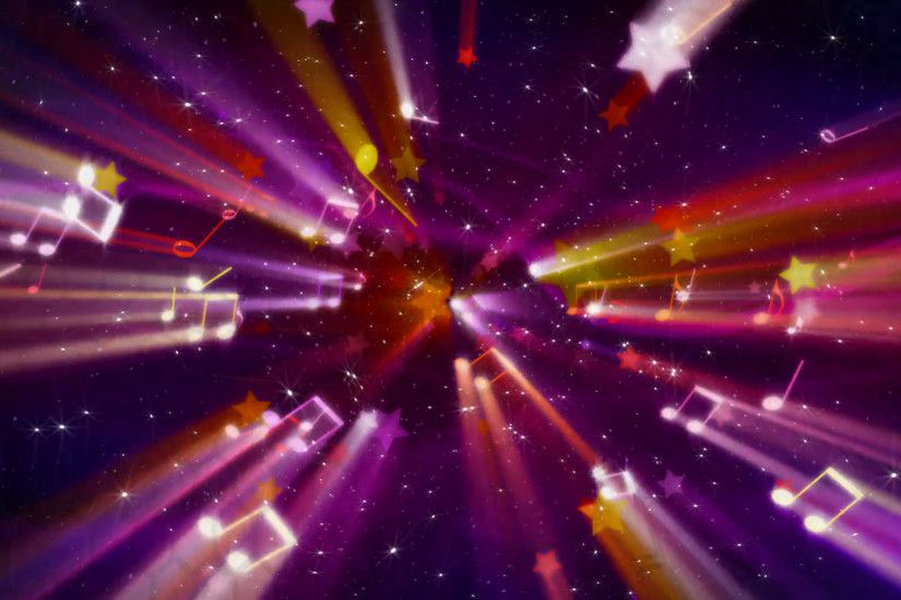 loopable musical background flying shiny notes, stars and particles Motion  Background - VideoBlocks
