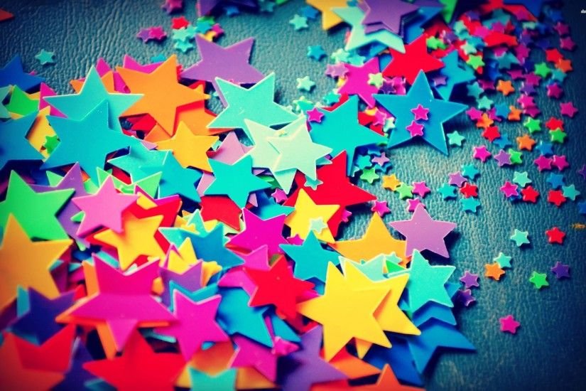 COLORFUL STARS WALLPAPER