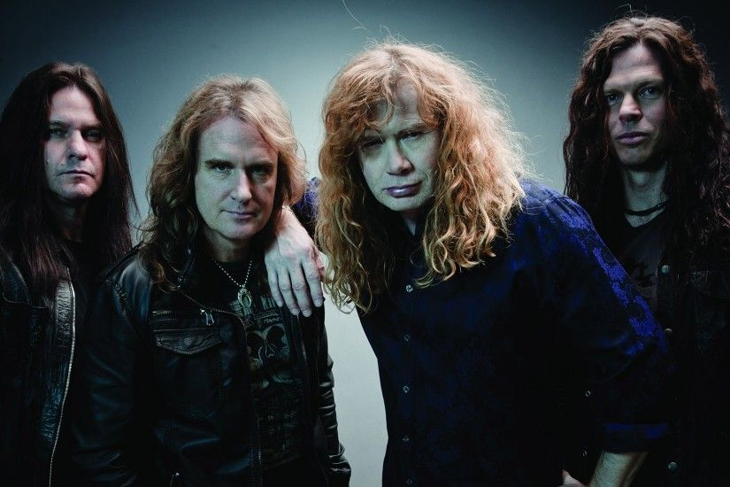 Preview wallpaper megadeth, band, hair, look, jackets 1920x1080
