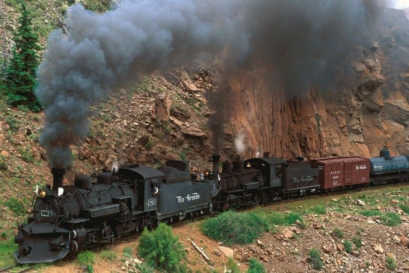 train, Steam Locomotive, Cliff, Freight Train Wallpapers HD / Desktop and  Mobile Backgrounds