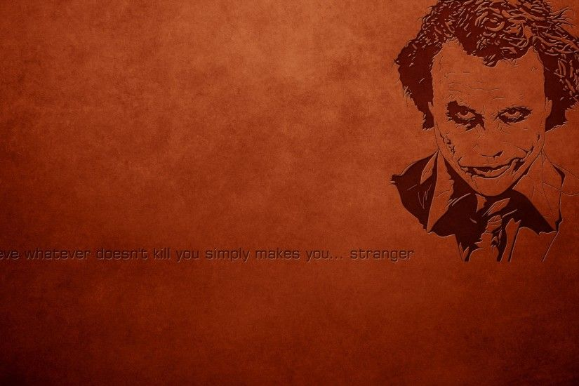 Joker, Heath Ledger, Quote Wallpapers HD / Desktop and Mobile Backgrounds
