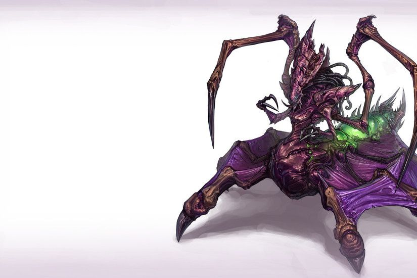Artwork Queen StarCraft II Video Games Zerg