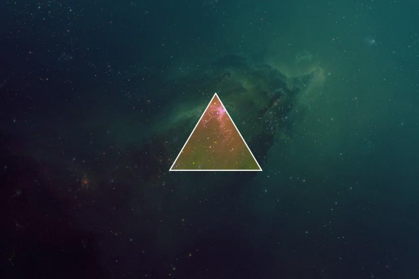 Galaxy Triangles Skies Hipster Photography Minimalism Wallpaper