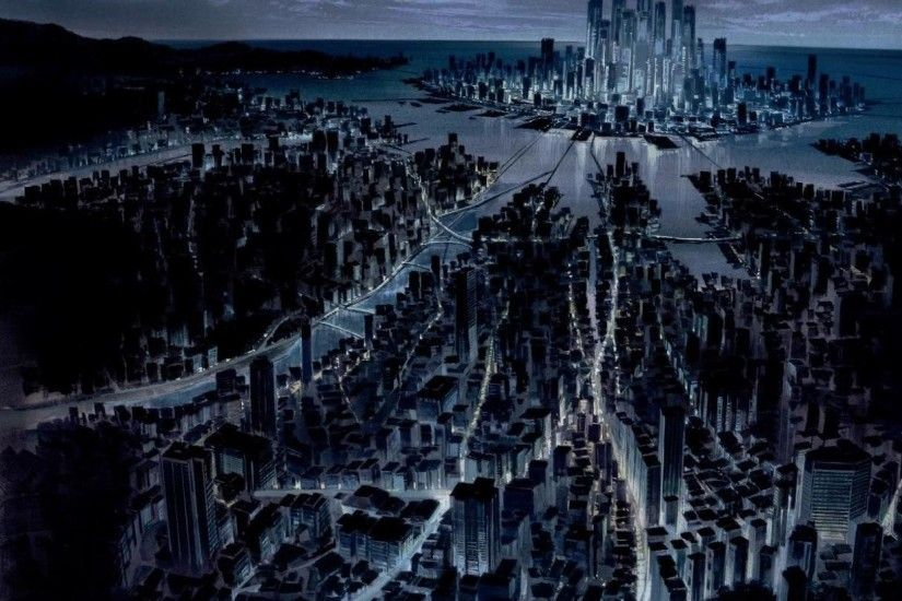 GHOST IN THE SHELL CITYSCAPES FUTURISTIC CITYS SPACE SHIPS wallpaper |  1920x1080 | 123027 | WallpaperUP