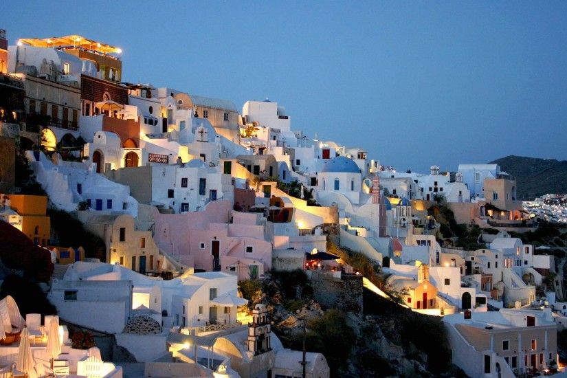 Wallpaper santorini greece 1920 x 1080 full hd