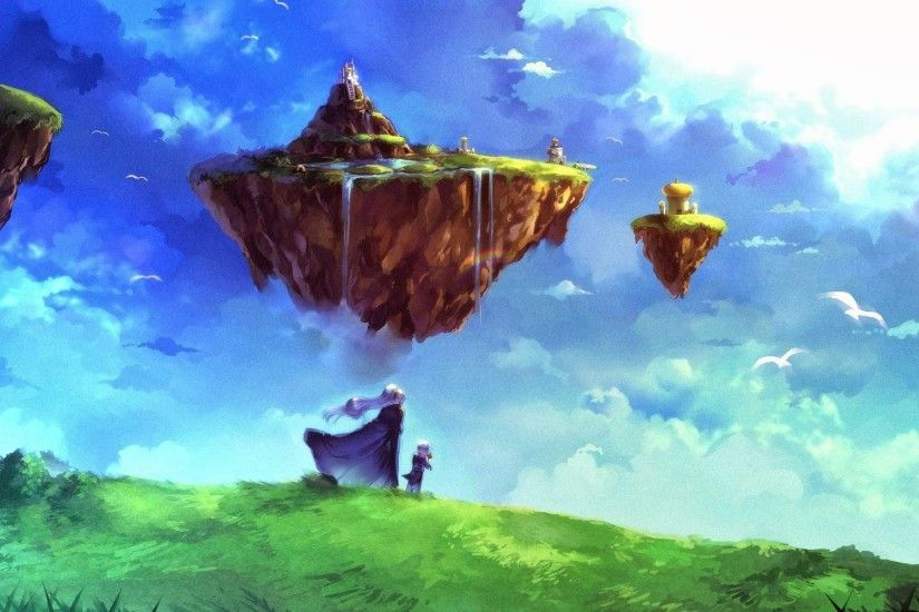 fantasy Art, Chrono Trigger, Floating Island Wallpapers HD / Desktop and  Mobile Backgrounds
